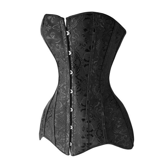 Wonder Beauty Steel Boned Waist Trainer Corsets Long Torso Overbust Corsets And Bustiers Lace Waist Shaper Korset For Women