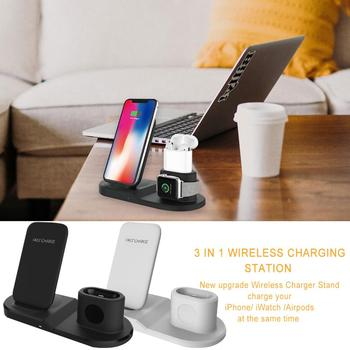 Wireless Charger 3 In 1 Wireless Charging Stand Station for for Apple Watch iPhone Airpods