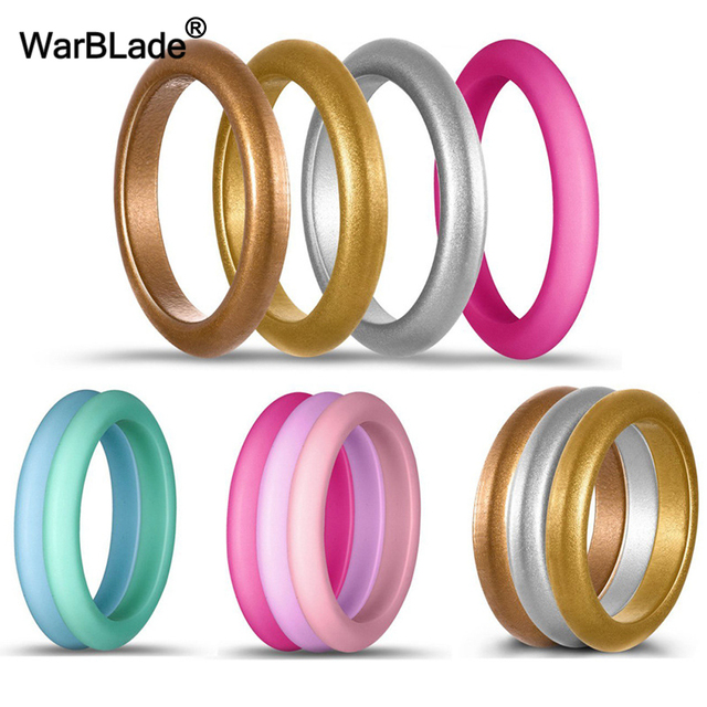 10pc/set 3mm Size 4-8 Food Grade FDA Silicone Ring Hypoallergenic Crossfit Flexi