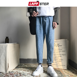 Image 3 - LAPPSTER mężczyźni koreański mody obcisłe dżinsy rurki spodnie 2020 lato Streetwaer Hip Hop Skinny dżinsy męskie proste niebieskie spodnie