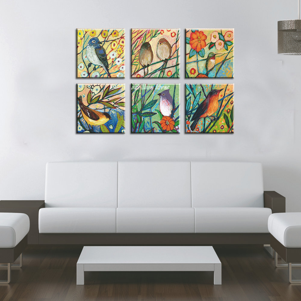 Modern Art Paintings For Living Room Aliexpresscom Buy Hand Painted High Quality Muti Panel Canvas