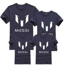 Барселона месси соответствующие наряды семья футбол коротким девочки футболки мальчики марка