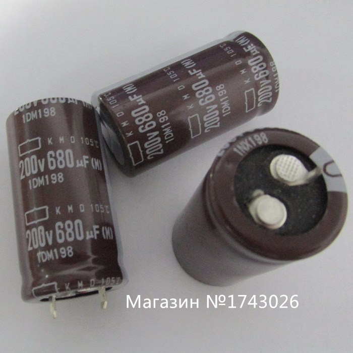 Original 10pcs/lot <font><b>200v</b></font> <font><b>680uf</b></font> aluminum electrolytic <font><b>capacitors</b></font> <font><b>680uf</b></font> <font><b>200v</b></font> new import 22*40 mm IC ... image