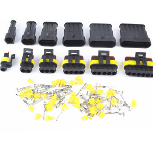 5SET 1Pin/2Pin/3Pin/4Pin/5Pin/6Pin Seal Waterproof Electrical Automotive Wire Connector Plug Terminals for Car(China)