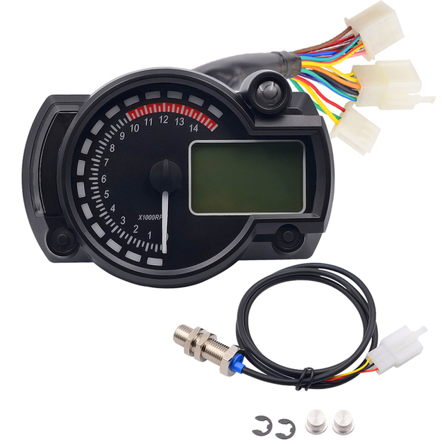 2017 1PC multifunctional digital Speedometer tachometer Speed Sensor ...