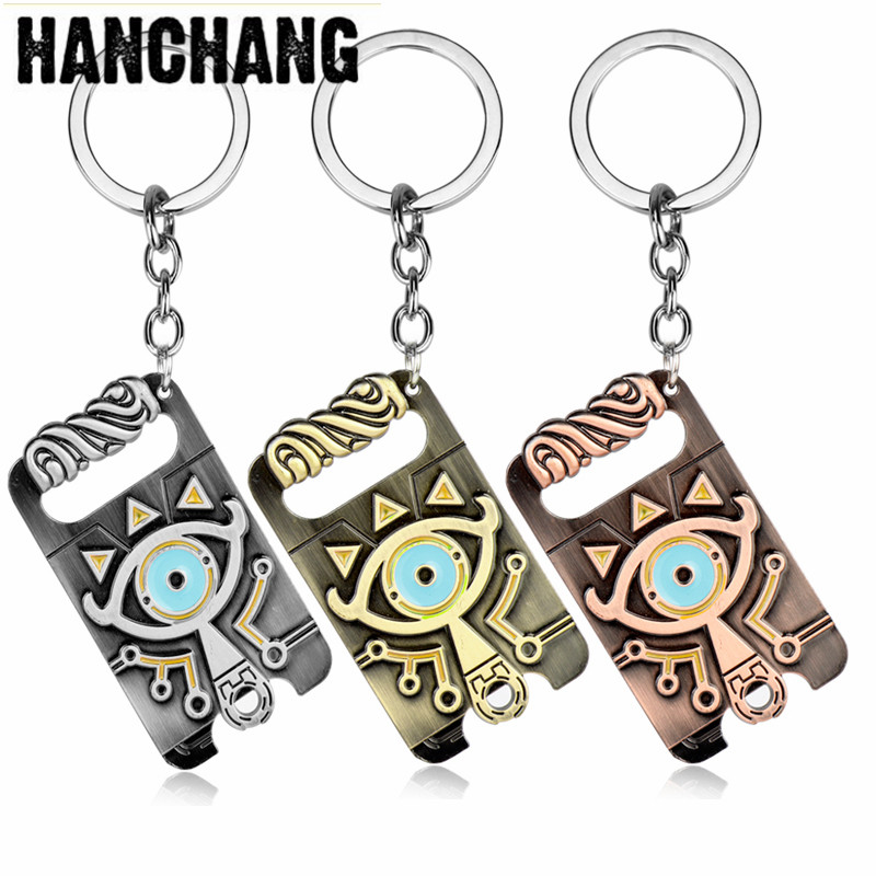 Legend Of Zelda Keychain Sheikah Slate Pendant Keychain Jewelry Breath Of The Wild Game Keyring Key Holder Accessories Cosplay