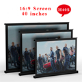 H40S NEW 2015 Everyone gain 40inch 16:9 Projector HD Screen Portable Folded Front Proyector Screen Fabric With Eyelets Frame