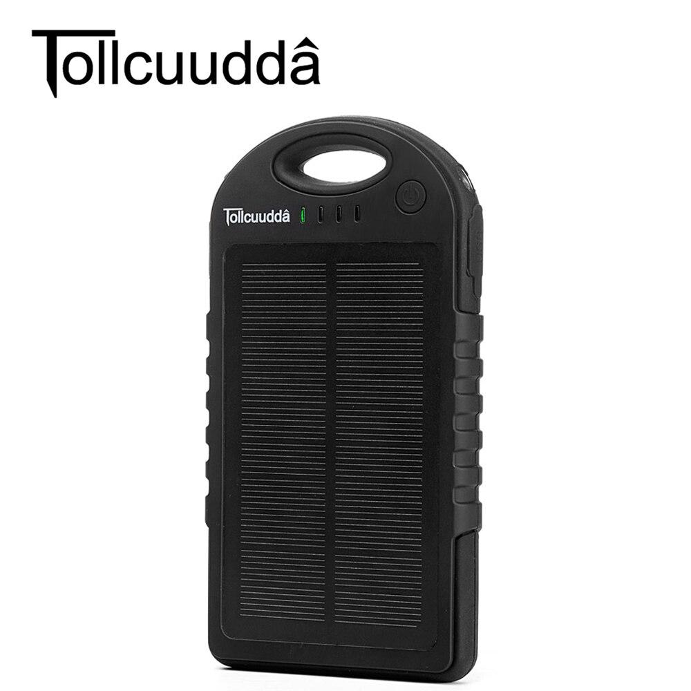 Цена за Tollcuudda 12000 мАч внешних банка мощность водонепроницаемый панели солнечных батарей celular зарядное устройство для iphone samsung телефон зарядки powerbank