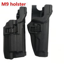 Tactical M9 Pistol Waist Holster LV3 Retention Auto t Airsoft Right Hand Lv3 Black hawk for M92 M96 Gun