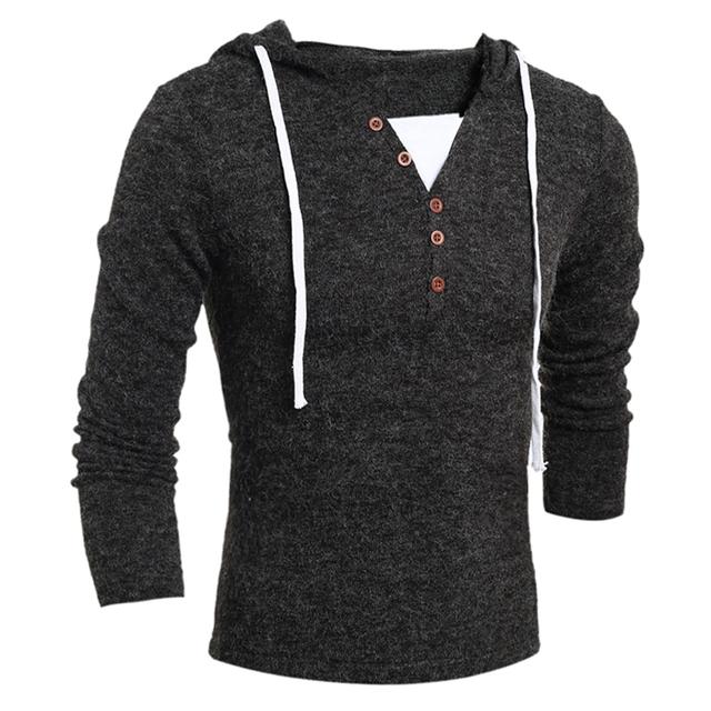 Homens Pullover camisola 2016 Masculina Marca Casual Blusas Finas Homens Finos Sólidos Emblemas Decorativos Hedging O-pescoço Camisola Dos Homens