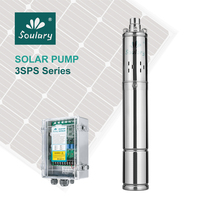 (DHL Free Shipping) 3inches Stainless Steel 0.75HP DC Submersible Solar Pump of MPPT ( 1.8cbm/hr 120m ) ( Model : 3SPS1.8/120 )
