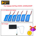 Бесплатная Доставка! 6 шт. 3.7 В 500 мАч Батареи Липо + 6in1 Зарядное Устройство Для Hubsan X4 Плюс H107C H107D H107P