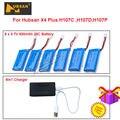 El Envío Gratuito! 6 unids 3.7 V 500 mAh Lipo Batería + Cargador Para Hubsan H107C H107D X4 Plus H107P 6in1