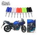 Um Par 2 Pcs Slider do Frame Da Motocicleta Protetor Queda Resistente Ao Desgaste Da Motocicleta Bater Protector Crash Pads Universal 10mm