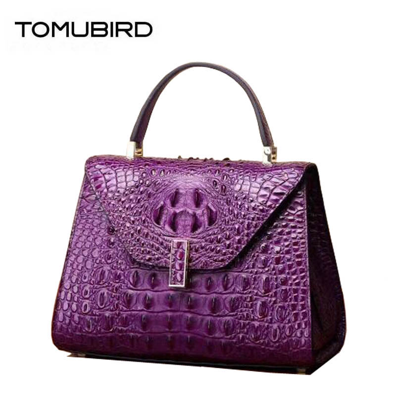 2018 New women genuine Leather bags superior cowhide tote women Leather bags Crocodile pattern bags handbags women famous brands цена