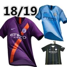 3b21dfda3 2019 Manchester city soccer jersey 3rd G. JESUS KUN AGUERO DE BRUYNE SANE  MAHREZ 2018 19 Manchester city football shirt