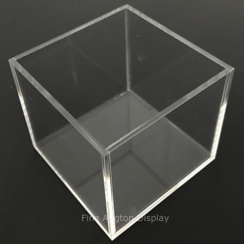 150x150x150mm 5 face acrylique transparent boîte Perspex Cube vitrine au détail bijoux présentoir conteneur