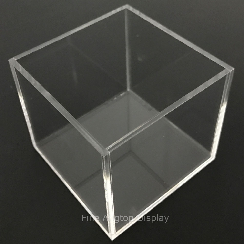 150x150x150mm 5 sided Clear Acrylic Perspex Box Cube Display Case Retail Jewelry Display Stand Container