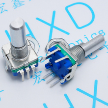 Half shaft 20 mm EC11 rotary encoder coding switch EC11 audio digital potentiometer with switch