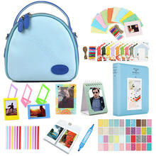 hot deal buy fujifilm instax mini accessories set, camera case shell bag+photo album+wall hanging film frames+magetic frame+marker etc.
