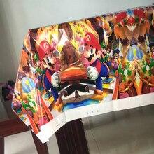 1 sztuk Super Mario Bros jednorazowe plastikowe obrusy dla dzieci dekoracje na imprezę urodzinową Tablecover