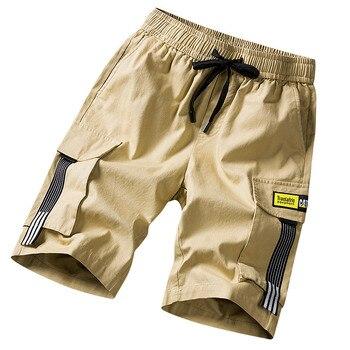 Hombres pantalones cortos sudor hip hop streetwear de verano de algodón militar para hombre Bermudas M-5XL 2019 de carga corta para hombre