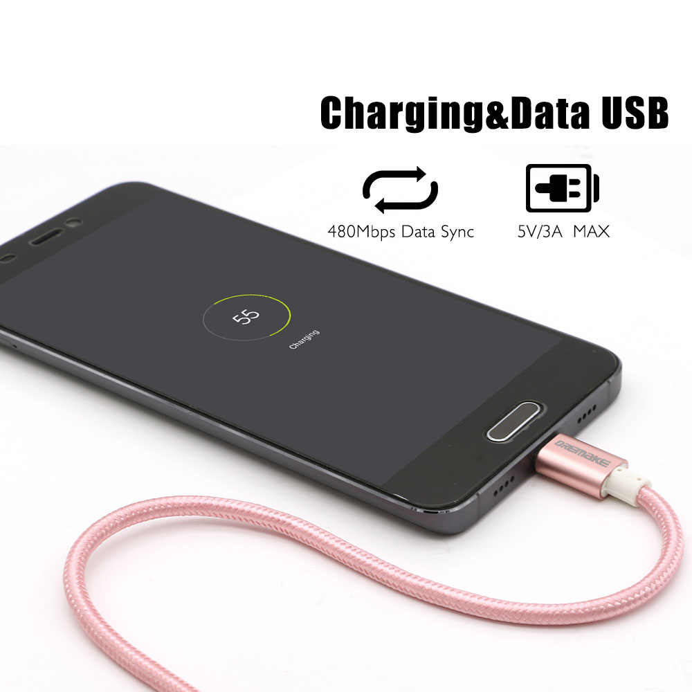 USB Tipe C Kabel USB untuk USB-C Cepat Nilon Dikepang Tali Kompatibel dengan Samsung Galaxy S8 S9, google Pixel 2 3 Xl, LG V30