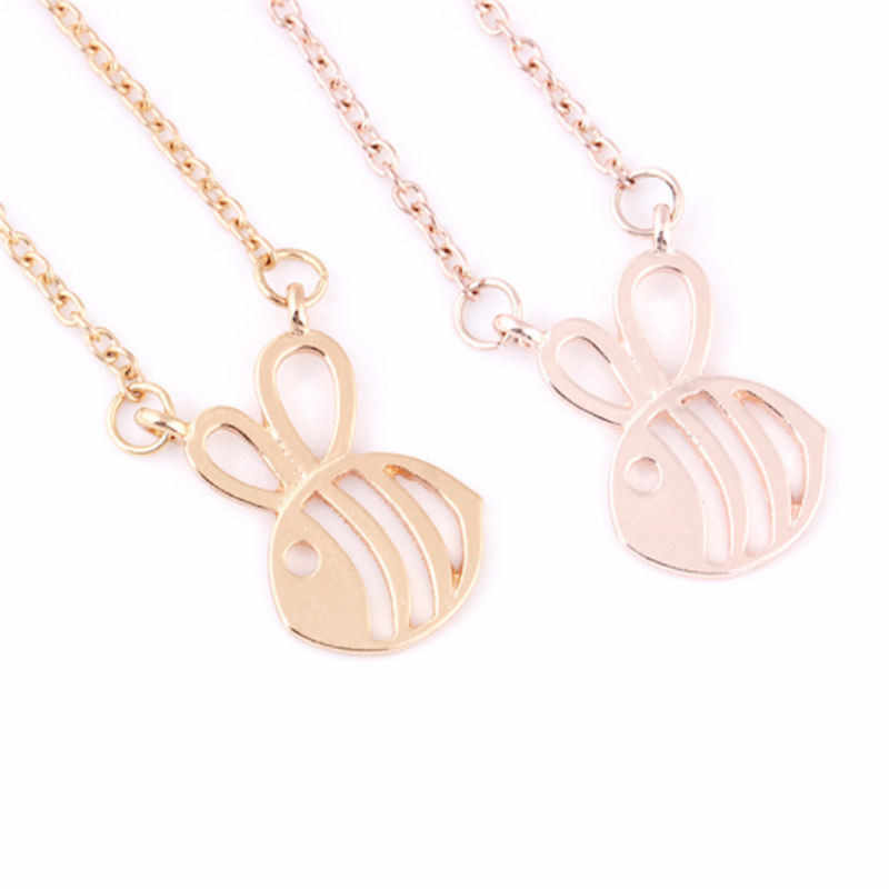 1pc Fomous Jewelry Bumble Bee Necklace Shaped Cute Insect Charm Pendant Long Necklace For Women Girls Freeshipping