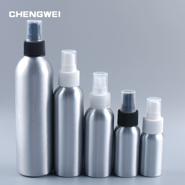 4d8b19fa1e23 US $3.18 20% OFF|CHENGWEI 30ml/50ml/100ml/120ml/150ml/250ml Aluminium  Perfume Atomiser Bottle Empty Refillable Metal Perfume Spray Bottle-in ...