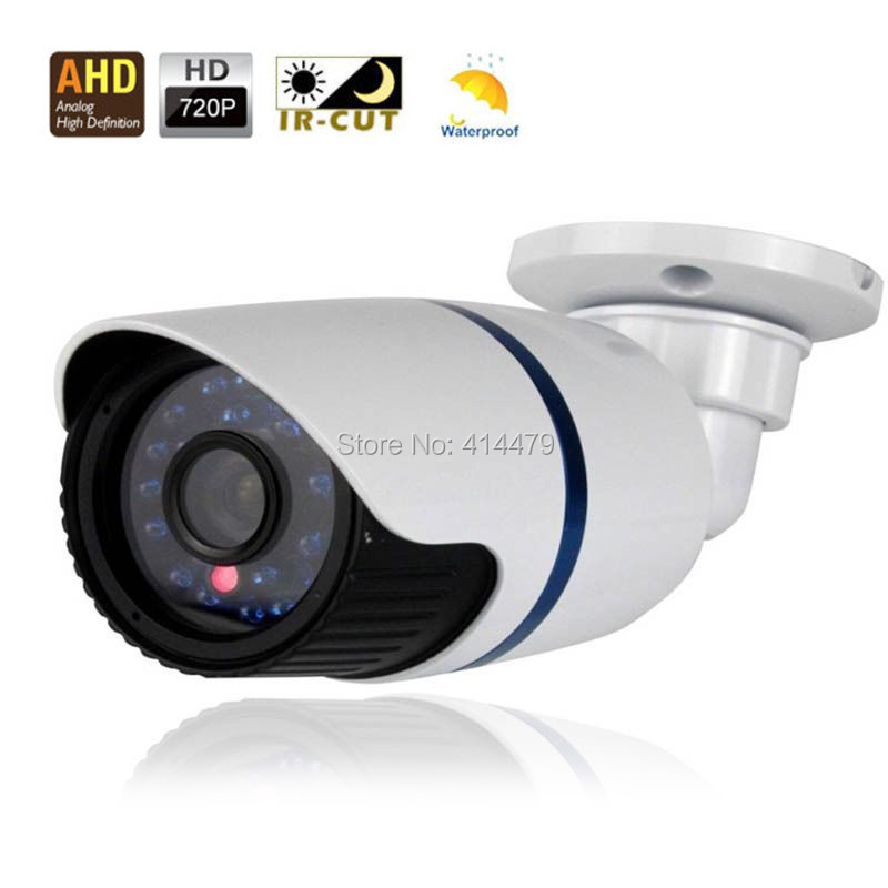 HD 1.0MP 720P AHD Waterproof Security CCTV Video Camera with 24 LED IR-Cut Filter Metal Body Housing diy cctv camera ir waterproof camera metal housing cover small cy c1010a 2 with nut