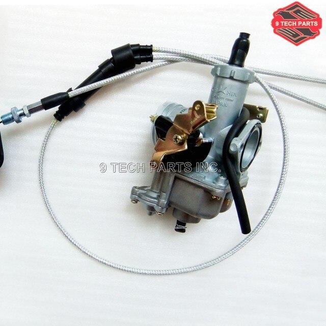 KEIHIN PZ30 30mm Carburetor Accelerating Pump Cable Choke Carb with Dual throttle cable for ATV Dirt Bike Pit Quad 200cc 250cc