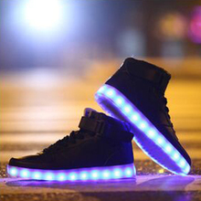 Hot Men&Womens Led Lights casual Shoes High Tops Leisure Simulation Chaussure Femme Usb Con Luz Lumineuse zapatillas led hombre