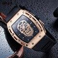 BAOGELA Лидирующий бренд мужские модные кварцевые часы мужские Роскошные наручные часы с розовым черепом мужские водонепроницаемые часы Relogio ...