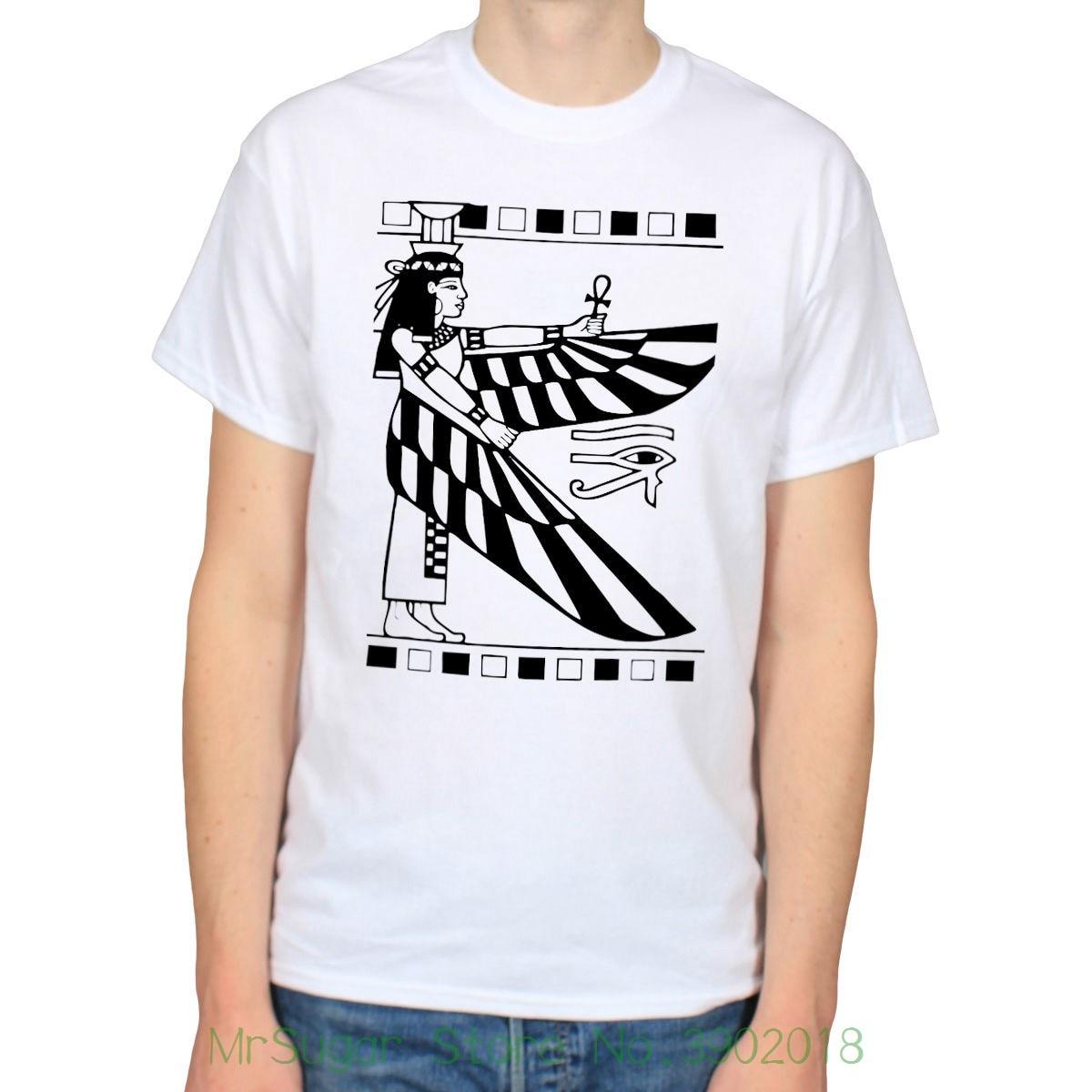 Egyptian Goddess Isis Ancient Egypt Empire Illuminati History T-shirt Tee Classic Tops Tee Shirts