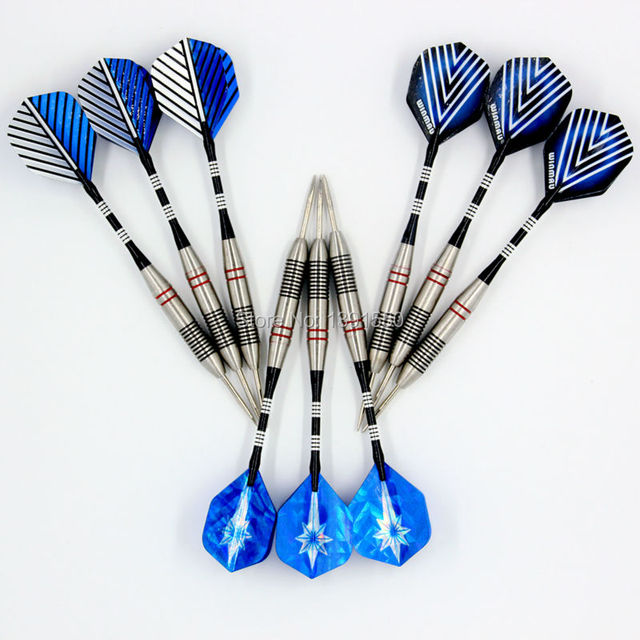 9pcs/3 sets of Steel Tip tungsten steel 23g Darts with Aluminium Alu Shafts and darts flights flight - Free Shipping