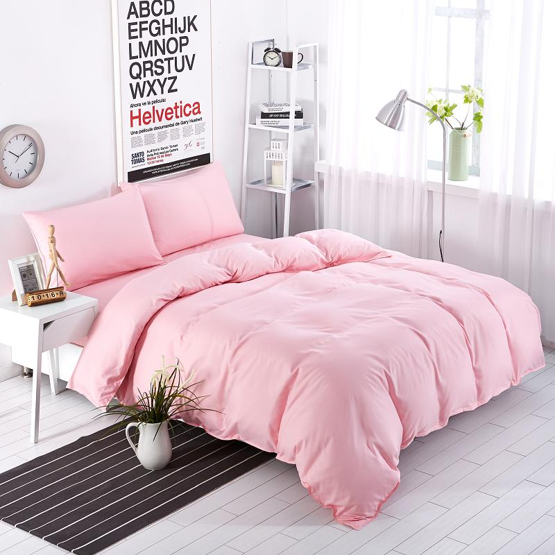 buy new bedding sets sweetheart full pink style striped bed sheet duver quilt. Black Bedroom Furniture Sets. Home Design Ideas