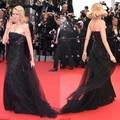 Naomi Watts 68th Cannes Film Festival Strapless Black Lace And Tulle A Line Evening Dresses Long Celebrity Red Carpet Gowns