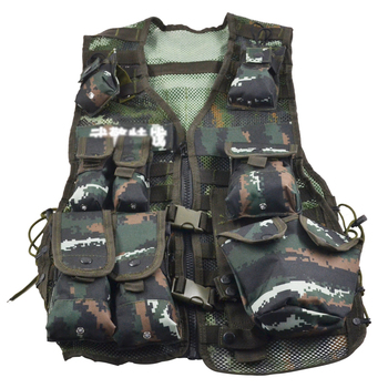 Outdoor Mesh Breathable Military Vests CS Combat Camouflage Multi-accessory Package Tactical Vest Training Fishing Hunting Vests