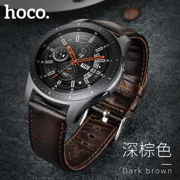 HOCO Retro Brown Genuine Leather Strap for Samsung Galaxy Watch 46mm Version SM-R800 Band Bracelet Watchbands - DISCOUNT ITEM  35% OFF All Category