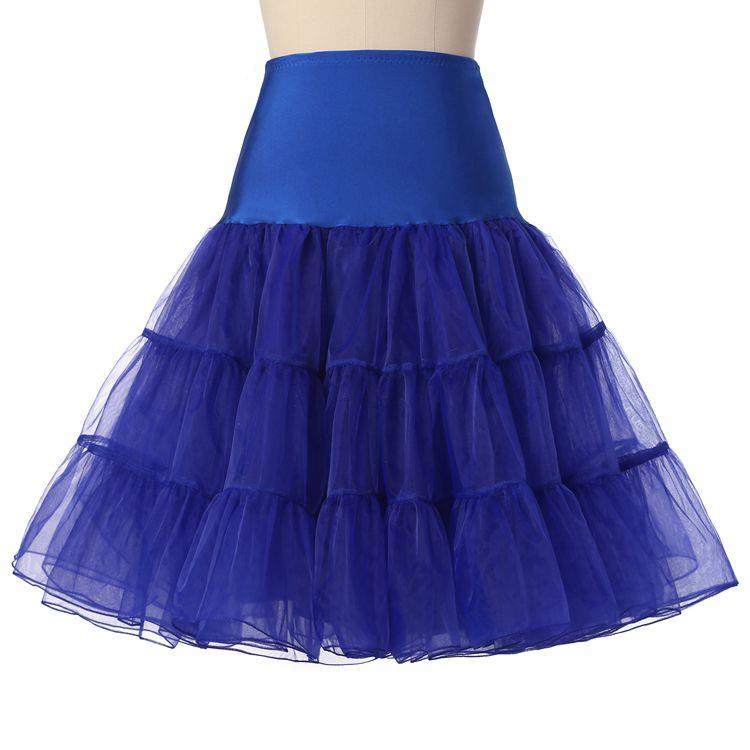 2019 Spring Cosplay Petticoat Woman Underskirt 65CM Length Knee Short Wedding Petticoat 3 Layers Puffy Tulle Evening Tutu