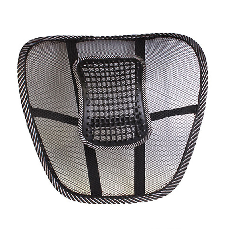 Universal Car Back Seat Support Mesh Lumbar Back Brace Cool Summer Car Seat Office Home Cushion Waist Back Support Car Styling