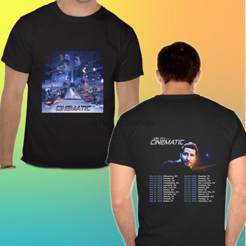 OWL CITY CINEMATIC Tour 2018 T-shirt Black White Tee