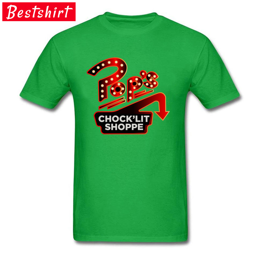T Shirts Riverdale Pops Chocklit Shoppe 100% Cotton Round Neck T-Shirt Camisa Tops Shirts Plus Size 3XL Fashion Tops & Tees