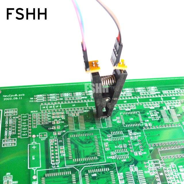 150mil 200mil SOIC8 SOP8 اختبار كليب ل EEPROM / 93CXX / 25CXX / 24CXX في الدائرة البرمجة