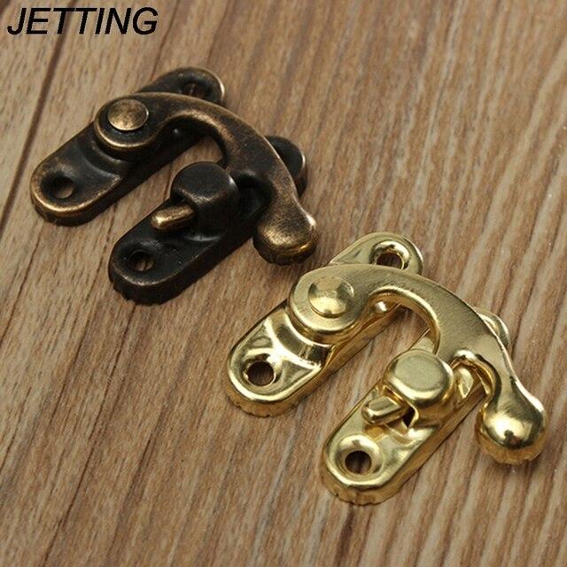 5pcs Antique Bronze Iron Padlock Hasp Hook Lock For Mini Jewelry Box