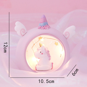 Cute Unicorn Resin Night Lamp