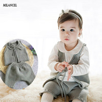 2017 New Infant Baby Boys Girls Sets Solid Vest Tops Harem Pants 2pcs Outfits Toddlers Suits