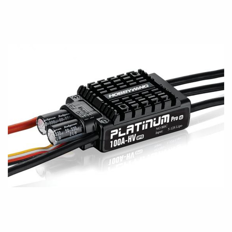 Tarot-RC Original Hobbywing Platinum OPTO HV V3 100A 5-12S Lipo No BEC Speed Controller Brushless ESC for RC Drone Helicopter 1pcs original hobbywing platinum 100a v3 rc model brushless esc for multicopter for align trex 550 600 700 rc helicopter fixed w