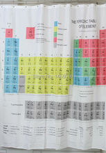Periodic table shower curtain (180 x 180 cm)