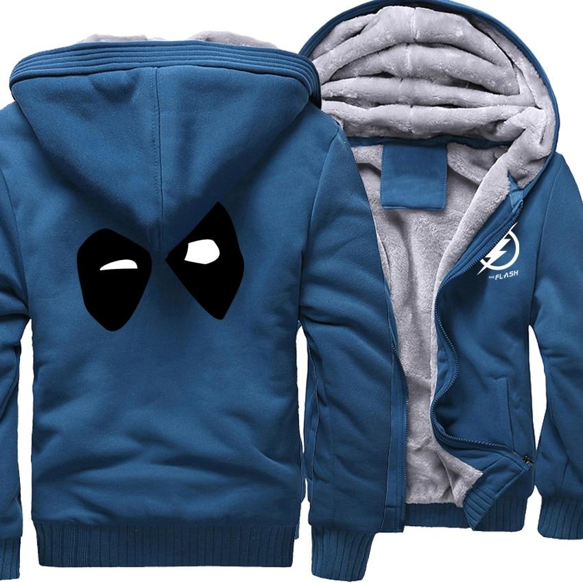 Nouveau Mode Sweat Hommes 2018 Marque Vêtements D'hiver Chaud Polaire Hoodies Imprimer HERO DEADPOOL Sweat À Capuche de Hip Hop Streetwear Hommes